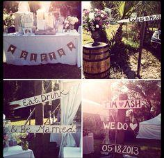 Wedding sign DIY