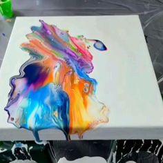 Acrylic Pouring Art, Acrylic Art, Acrylic Painting Canvas, Canvas Painting Tutorials, Acrylic Painting Techniques, Easy Canvas Art, Abstract Canvas Art, Flow Painting, Pour Painting