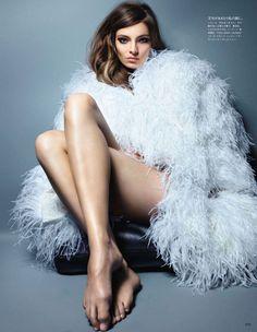white ostrich dress!