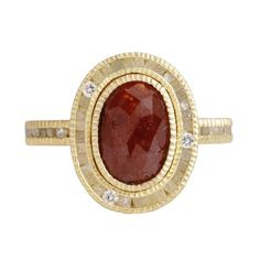 This Baroque-style ring features a gorgeous, oval-shaped red diamond surrounded by a halo and band of cubic diamonds with white, brilliant accents for an extra dose of sparkle. I Love Jewelry, Jewelry Rings, Fine Jewelry, Jewelry Design, Jewellery, Jewelry Box, Diamond Drop Earrings, Beautiful Rings, Accessories