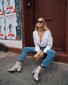 fashion swag she is rad - snake boots and sunnies vibe