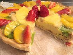 Tarta vegana de crema pastelera y frutas - La Dimensión Vegana