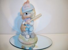 Precious Moments Baseball Figurine Lets Have A Ball Together 2001