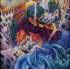 "Olga Tuleninova on Twitter: ""Umberto Boccioni   Visioni simultanee ""Simultaneous vision"" (1912) https://t.co/R2j8zL568h"""