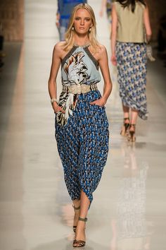#MFW - Runway - #Etro Spring 2014 Ready-to-Wear Collection. African-print inspired