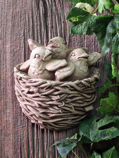 1281 Fledglings #carruth #babies #birds #nest #gift #handmade #usa