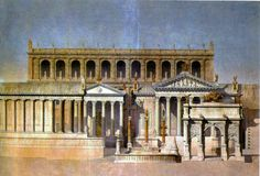 Depiction of the Forum Romanum (1866) - Temple of Castor and Pollux - Wikipedia
