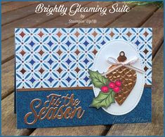 Stampin' Up! Brightly Gleaming Suite - Judy May, Just Judy Designs, Melbourne Christmas Flyer, Christmas Card Crafts, Stampin Up Christmas, Christmas Cards To Make, Halloween Christmas, Xmas Cards, Christmas Projects, Handmade Christmas, Christmas Holiday