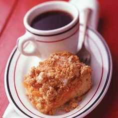 This state fair winning coffee cake has a delicious filling and crunchy oatmeal topping.
