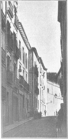 La calle de San Cipriano (1910). Desaparece al construirse el tercer tramo de la Gran Vía.