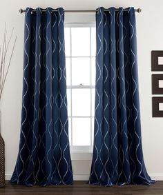 Look what I found on #zulily! Navy Pearl Curtain Panel - Set of Two #zulilyfinds