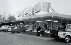 https://flic.kr/p/4TGgiN | IL-Alton-Blocks '63 day | <b>Blocks Drive-In</b> Alton, IL  At this time, there were two Blocks locations:  701 Central Av. and 2300 Godfrey Rd.  (A third was added later.)  They were all very similar architecturally, at least in the walk-up area, and I can't tell which location is pictured here.  The Godfrey location was in business until nearly the turn of the century, but I never got around to eating there.  It was torn down to build a Kentucky Fried Chicken.  From an ad in the 1963 AHS yearbook.