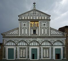 Florence.San Miniato a Monte , the most important example of Florence Romanesque arquitecture.