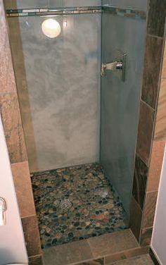 Custom shower with Silver Liquid Dazzle epoxy.