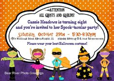 halloween party invitation halloween birthday invite 5x7 printable - Halloween Birthday Party Ideas