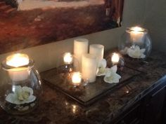 Beautiful! #PartyLite candles and Clearly Creative candle holders