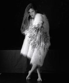 Louda Collection one-of-a-kind fake fur coat (www.loudacollection.com) Photography: Gilles Larrain (www.gilleslarrain.com) Model: Danielia Maximillian