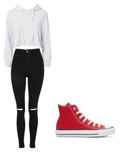 """""""Untitled #1"""" by pnut112004 on Polyvore featuring Monrow, Topshop and Converse"""