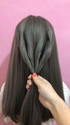 Cool Braid Hairstyles, Easy Hairstyles For Long Hair, Braids For Long Hair, Party Hairstyles, Front Hair Styles, Medium Hair Styles, Curly Hair Styles, Hair Style Vedio, Life Hacks Hair