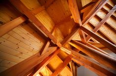 Timber Frame Accent on our Woodhaven Home #TimberFrame #Log #Custom #Accent #Woodhaven #DiscoveryDreamHomes