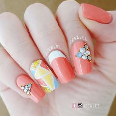 31 Looks: Cute Nails for Spring 2018 > CherryCherryBeauty [Source: jeealee / Instagram]