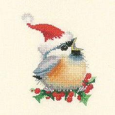 Chickadees: Christmas Chick da Heritage Stitchcraft - Valerie Pfeiffer - Kit Punto Croce Kit - natale - Casa Cenina
