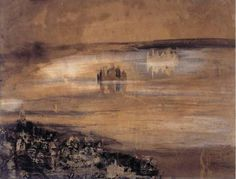 """Famous Writers Try Their Hand at Painting: """"Town Beside a Lake"""" by Victor Hugo Victor Hugo, Etching Prints, Mystique, Visual Diary, Les Oeuvres, Printmaking, Art Pieces, Abstract Art, Sketch Books"""