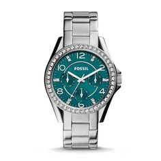 #Fossil Riley Multifunction Stainless Steel Watch