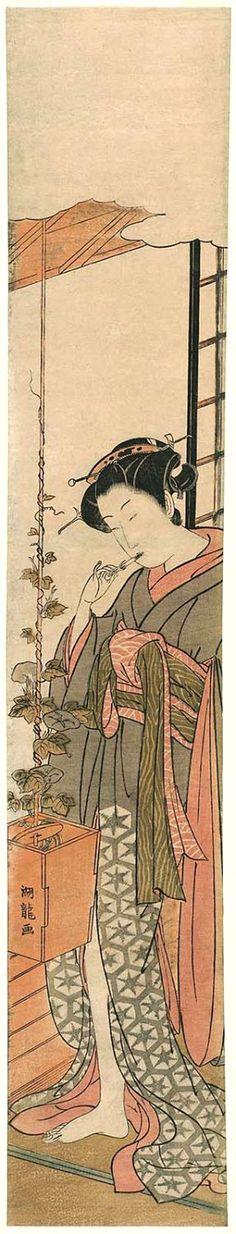 Koryusai Isoda / Junge Frau am Morgen