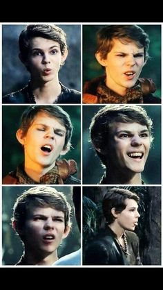 This is what happens when you pause Robbie Kay / Peter Pan  when he's in the middle of telling someone off