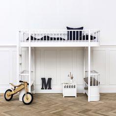 Oliver Furniture Kinder-Hochbett 'Wood' weiß 90x200cm bei Fantasyroom online kaufen