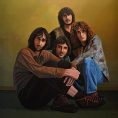 The Who Painting by Paul Meijering