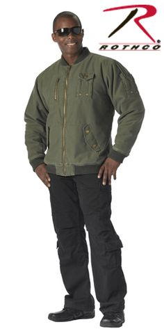 Olive Drab Vintage Flight Jacket - Military and Camo Jackets 5a549ae9e43