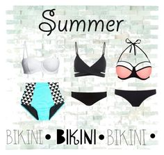 """""""Summer bikinis"""" by ceeceegrant ❤ liked on Polyvore featuring Canvas by Lands' End, L*Space, Phase Eight, New Look and Paul Smith"""