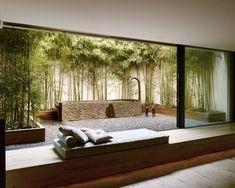 Image Gallery - Haus in Uitikon, CH Courtyard Design, Backyard Garden Design, Courtyard House, Interior Garden, Home Interior Design, Interior Architecture, Interior And Exterior, Design Cour, Outdoor Spaces