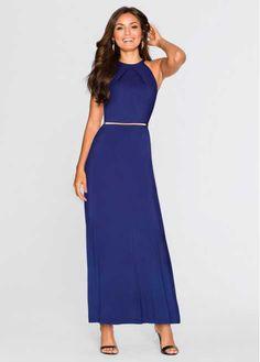 Voir:Magnifique robe extra longue de la marque BODYFLIRT avec ceinture. Chic intemporel et un must-have de la garde-robe. La ceinture à la taille rehausse cette robe minimaliste et valorise la silhouette féminine. Long. env. 140 cm.