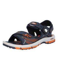 Navy & Orange Convertible Sandal - Men