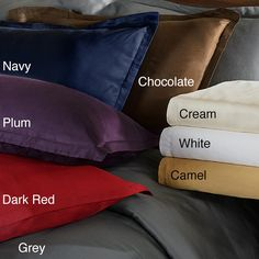 Give your bed a makeover with one of these stylish duvet cover sets. This set is constructed of 100-percent modal sateen giving it a smooth, luxurious feel. Available in eight colors, the duvet features a button closure for convenient cleaning.
