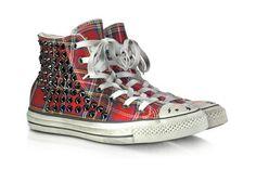 Sneakers en tissu écossais avec clous Converse Limited Edition prix promo Forzieri 198,00 € TTC