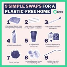 Could your home become plastic-free - or at least single-use plastic-free? Plastic Problems, Plastic Alternatives, Waste Reduction, Plastic Pollution, Sustainable Living, Free, Biodegradable Products, Helpful Hints, Recycling