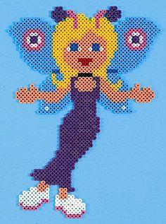 Butterfly Girl  /  hama bead perler pattern - Bügelperlen