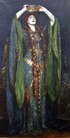 Lilith (Pre-Raphaelite - Dante Gabriel Rossetti ?)
