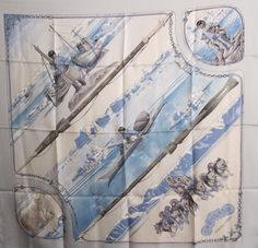 ON HOLD for Jillian January Sale Price REDUCED Vintage Hermès Scarf Grønland Philippe LeDoux 1982 Rare. $200.00, via Etsy.  Loved this one so much I had to buy it. My most expensive Hermes to date but so worth it it. I can stare at the polar bears and sled dogs all day long.  Ledoux also worked as a textbook illustrator (I've read) - I'd love to know which ones.
