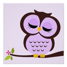 Cute blue cartoon baby owl poster cartoon owls baby owl and owl sleepy owl cartoon voltagebd Images