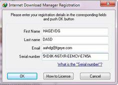 internet download manager serial number free registration