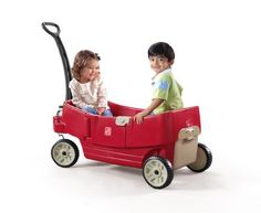 Step2 All Around Wagon by Step2. $79.97. From the Manufacturer                Multi-function wagon for nearly every use. Seats flip into a flat bed, seat or table. Large storage capacity. Features Whisper Wheels™ for smooth quiet ride. Easy-pull handle design. 6 cup/snack holders. Easy-access door.                                    Product Description                 All Around Wagon A multi-function wagon for nearly every use! The seat flips into a flat bed, seat o...