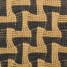 Learn the techniques of ply-splitting by using a kit for the ply-split Zig-Zag Basket, one of 12 designs in How to Make Ply-Split Baskets by Linda Hendrickson. Contemporary Baskets, Types Of Weaving, Tapestry Crochet Patterns, Tear, Weaving Techniques, Zig Zag, Basket Weaving, Diy And Crafts, Knit Crochet