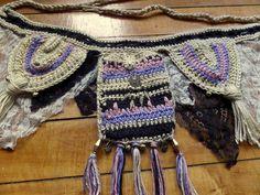 Crochet utility belt // dance / festival wear by HorizonsEd3e, $80.00