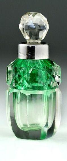 Antique cut crystal perfume bottle.