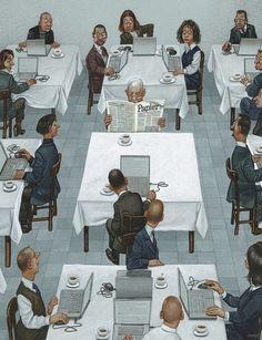 """Gerhard Haderer, unfamoso artista austriaco, empezó sucarrera como ilustrador enalgunas agencias depublicidad. En1985, cansado deproyectos comerciales, decidió dedicarse alasátira. Durante más de30años, dibujó miles decaricaturas honestas, aunque algunas deellas casi lecostaron lalibertad. En2005 fue condenado a6meses deprisión por ofender los sentimientos delos creyentes ensulibro decaricaturas """"Lavida deJesús"""", pero esto noacabó con suarte. Alcontrario, asus…"""